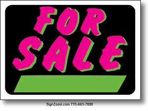 FLUORESCENT FOR SALE Sign