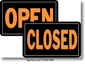 OPEN/CLOSED Sign (Reversible)
