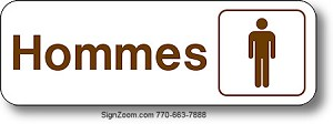 HOMMES / MEN Sign (French)