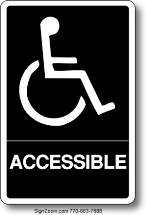 BRAILLE HANDICAPPED ACCESSIBLE Sign