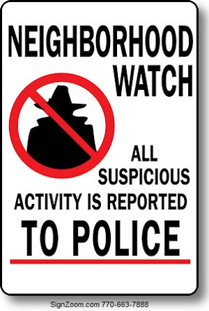 Construction Sign Clipart NEIGHBORHOOD WATCH Sig...